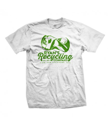 Ryan's Recycling tees now available in white!